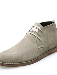 cheap -Men's Shoes Nubuck leather Winter Fall Comfort Oxfords for Casual Office & Career Blue Beige Black