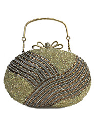 Women Bags All Seasons PU Evening Bag Crystal/ Rhinestone Acrylic Jewels for Wedding Event/Party Formal Gold Black Silver