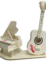 Недорогие -3D пазлы Наборы для моделирования Деревянные игрушки Оригинальные деревянный 1 pcs Детские Взрослые Мальчики Девочки Игрушки Подарок