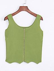 cheap -Women's Daily Street chic Short Vest