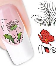 billige -1 Nail Art Sticker Vand Transfer Decals Makeup Cosmetic Nail Art Design