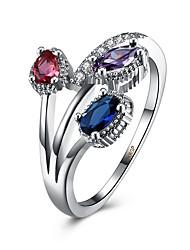 Ring Kubikzirkonia Zirkon Kupfer Titanstahl Imitation Diamant Silber Schmuck Alltag Normal 1 Stück