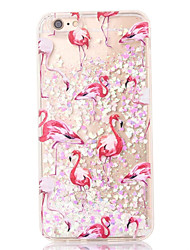 cheap -For iPhone 8 iPhone 8 Plus iPhone 7 iPhone 7 Plus iPhone 6 Case Cover Flowing Liquid Back Cover Case Flamingo Soft TPU for Apple iPhone 8