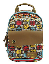Women Bags All Seasons Cowhide Canvas Backpack for Casual Screen Color