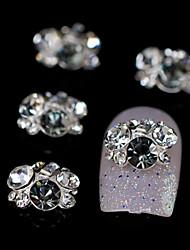 10pcs grupo de strass brilho cinza acessórios de liga de diy nail art decoração