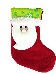 abordables -Decoración Decoraciones Navideñas Artículos Para Celebrar la Navidad Bolsas de regalo Juguetes Calcetines Disfraces de Santa Monigote de