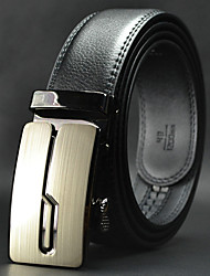 Men High Quality Automatic Buckle Waist Belt Work / Casual Alloy / Leather Black All Seasons