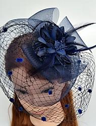 abordables -la gasa de tul red jaula velos estilo elegante casco