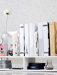 cheap -Modern White Water Cube Pattern Desktop Book Shelf Clothing & Closet Storage