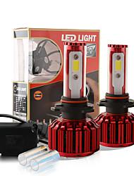 2016 NEW 9005 HB3 H10 9140 9145 60W 6000LM COB Chip LED Headlight Conversion Kit 2 Colors 5000K Yale Yellow 6000K White Bulbs Lamp Pair