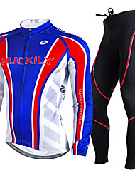 Nuckily Cycling Jersey with Tights Men's Long Sleeves Bike Clothing Suits Thermal / Warm Ultraviolet Resistant Breathable 3D Pad