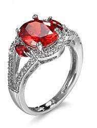 Dame Ring Kvadratisk Zirconium minimalistisk stil Mode Zirkonium Kvadratisk Zirconium Legering Smykker Til Afslappet