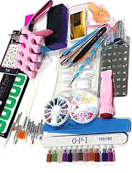 quantidade de embalagem kit de unhas Nail Art Decoração tipo de estilo da arte do prego 23sets DIY