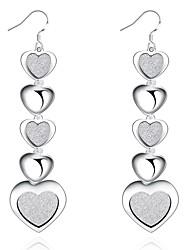 Visací náušnice Šperky Dámské Denní Ležérní Měď Postříbřené 1 pár Stříbrná