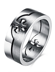 Men's Ring European Costume Jewelry Stainless Steel Titanium Steel Cross Jewelry For Party Daily Casual