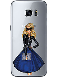 cheap -For Samsung Galaxy S6 Edge Plus S6 S7 Edge S7 Business lady Soft Material For Compatibility TPU