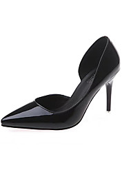 cheap -Women's Heels Spring PU Wedding Dress Casual Stiletto Heel Black Camel Dark Purple Dark Green