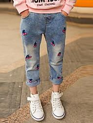Unisex Bavlna Běžné/Denní Jednobarevné Celoročně Kalhoty