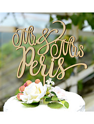 Cake Topper Personalized With Last Name Wood Wedding Cake Topper in Natural Wood Color