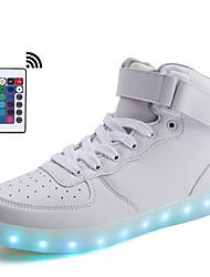 Для женщин Обувь Синтетика Весна Лето Осень Зима Удобная обувь Кеды LED Назначение Атлетический Белый