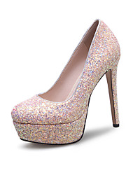 Women's Heels Spring Summer Fall Winter Synthetic Wedding Dress Party & Evening Stiletto Heel Sequin White Red Blushing Pink