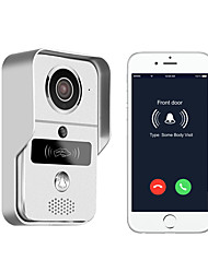 720P smart home WiFi video door phone, 2.4G wireless video door phone with RFTD card, wireless unlock MétalPhotographié Enregistrement