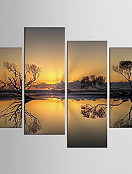 Canvas Set Famous Abstract Portrait Modern Pastoral,Four Panels Canvas Any Shape Print Wall Decor For Home Decoration
