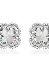 cheap -Stud Earrings Jewelry Women Men Party Alloy 1pc Silver