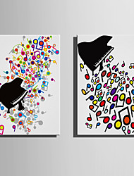 Kanvas Sæt Sille Liv Fantasi Moderne,To Paneler Kanvas Vertikal Kunsttryk Vægdekor For Hjem Dekoration
