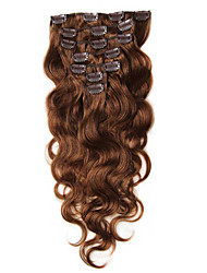 cheap -Clip In Human Hair Extensions Body Wave Virgin Human Hair Brazilian Hair Women's Daily