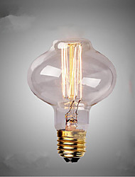 cheap -E27 AC220-240V 40W Silk Carbon Filament Incandescent Light Bulbs L80 Around Pearl