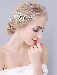 cheap -Crystal Rhinestone Alloy Hair Combs Headwear with Floral 1pc Wedding Special Occasion Headpiece