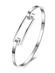 billige -Dame Kvadratisk Zirconium Armbånd - Kvadratisk Zirconium, Sølvbelagt Armbånd Sølv Til Fødselsdag / Gave / Daglig