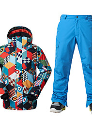 Skikleidung Ski/Snowboard Jacken Herrn Winterkleidung Polyester Kleidung für den WinterWasserdicht warm halten Windundurchlässig Fleece