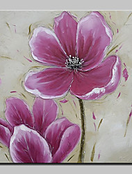 cheap -Large Hand Painted Pink Flowers Oil Painting On Canvas Modern Wall Art Picture For Living Room Home Decoration Ready To Hang