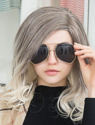 Peinado de lado largas pelucas de pelo humano ombre ondulado natural