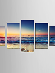 Famous Landscape Modern Realism,Five Panels Canvas Any Shape Print Wall Decor For Home Decoration