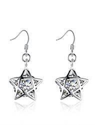 Náušnice - Kruhy Kubický zirkon Evropský Měď Postříbřené Šperky Pro Svatební Párty Denní Ležérní 1 pár