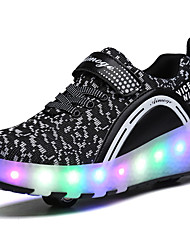 cheap -2017 Kids Boy Girl's Roller Skate Shoes / Ultra-light One Two Wheel Skating LED Light Shoes / Athletic / Casual LED Shoes Black Pink Blue