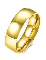 billige -Herre Ring minimalistisk stil Mode Europæisk Rustfrit Stål Titanium Stål Smykker Fest Daglig Afslappet