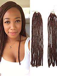 economico -dreadlocks Trecce di capelli Treccine a boccoli 45cm Dread piccoli finti Estensioni di Dreadlock Dread finti Capelli 100% Kanekalon Media