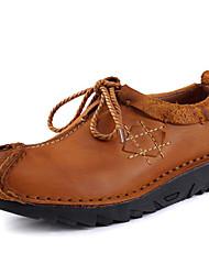 baratos -Homens Sapatos Pele Napa Primavera Verão Outono Inverno Conforto Oxfords Sem Salto para Casual Escritório e Carreira Festas & Noite