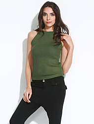 cheap -Women's Street chic Vest - Solid Colored
