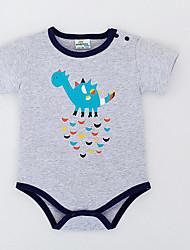 Baby En del Afslappet/HverdagBomuld Sommer Kortærmet