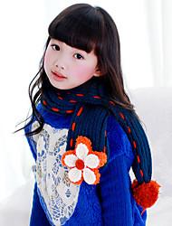 Девочки Шарфы,Зима,Вязаная одежда,Синий Красный