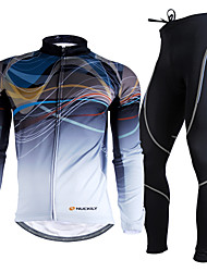cheap -Nuckily Men's Long Sleeves Cycling Jersey with Tights Bike Clothing Suits, Thermal / Warm, Ultraviolet Resistant, Breathable, 3D Pad