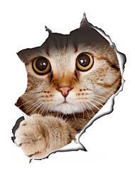 cheap -Wall Stickers Wall Decals Style Creative Cat PVC Wall Stickers