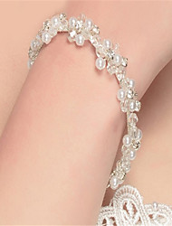 cheap -Women's / Couple's Chain Bracelet - Pearl, Imitation Pearl Bracelet White For Christmas Gifts / Wedding / Party / Anniversary / Birthday