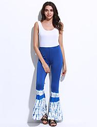 Uden ærmer Kvinders Vintage Jumpsuits Mikroelastisk Polyester