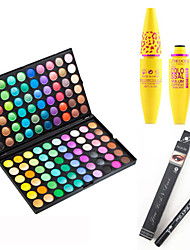 cheap -120 Colors Professional Eyeshadow Palette&Black Lasting Extension Thick Curling Mascara&2X Waterproof Liquid Eyeliner